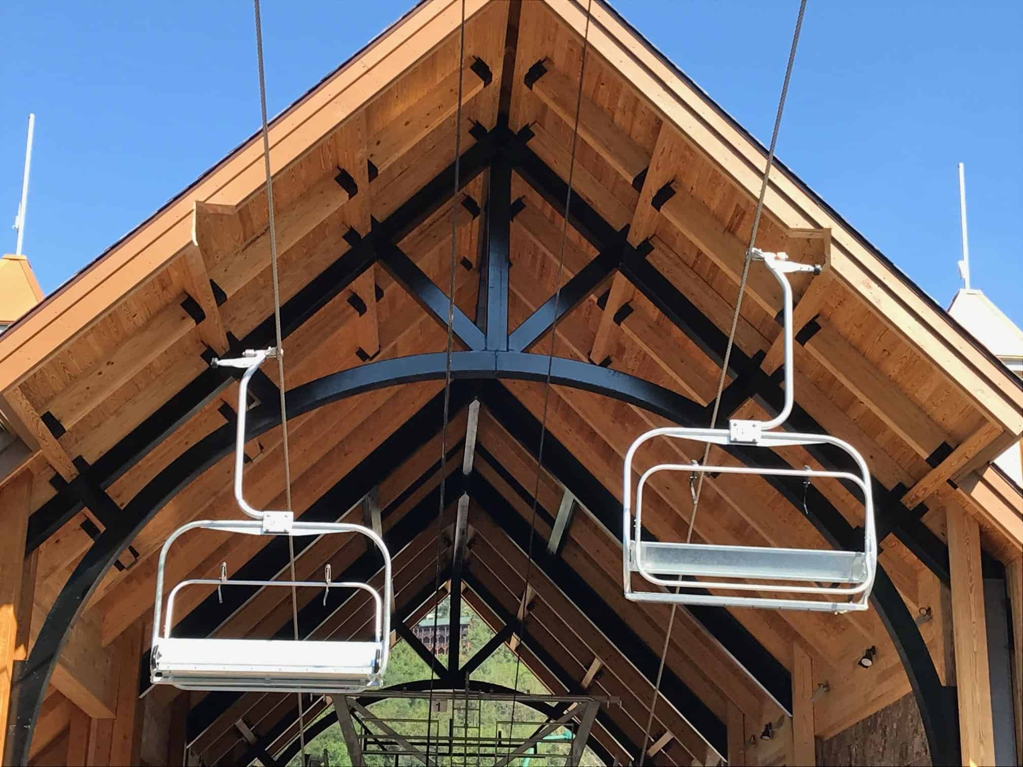 The chairlift to Anakeesta Adventure Park in Gatlinburg Tn