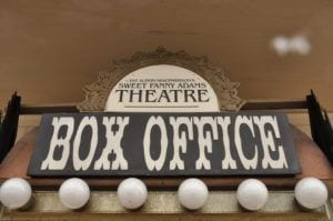 box office at Sweet Fanny Adams Theatre