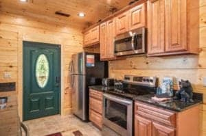 kitchen in an affordable smoky mountain cabin